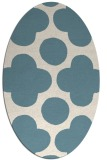 rug #496801 | oval white graphic rug