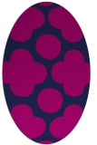 rug #496805 | oval blue graphic rug