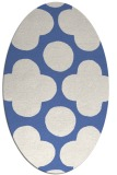 rug #496817 | oval blue graphic rug