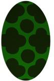 rug #496845 | oval green circles rug