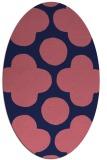rug #496869 | oval blue-violet circles rug