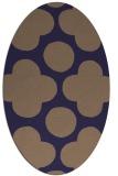rug #496885 | oval blue-violet circles rug