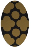 rug #496893   oval mid-brown popular rug
