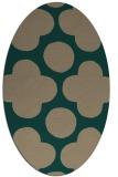rug #496899 | oval graphic rug