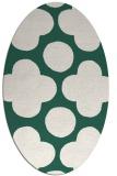 rug #496909 | oval blue-green circles rug