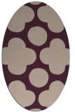 rug #496934 | oval graphic rug