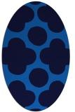rug #496945   oval blue popular rug