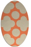 rug #496973 | oval beige circles rug