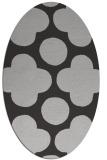 rug #496977 | oval orange graphic rug