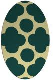 rug #496981 | oval yellow circles rug