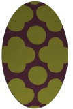 rug #497005 | oval green circles rug