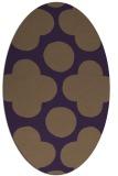 rug #497009 | oval purple circles rug