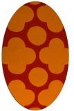 rug #497021 | oval orange circles rug