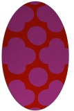 rug #497029 | oval red circles rug