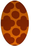 rug #497034 | oval circles rug