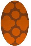 rug #497041   oval red-orange circles rug