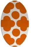 rug #497045   oval red-orange circles rug