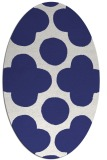 rug #497057 | oval blue graphic rug