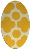 rug #497065 | oval yellow circles rug