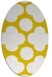 rug #497077 | oval yellow popular rug
