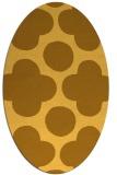 rug #497081 | oval yellow rug