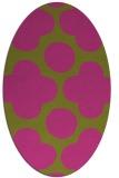 rug #497105 | oval light-green circles rug