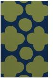 rug #497165 |  green circles rug