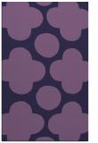 rug #497225 |  blue-violet circles rug