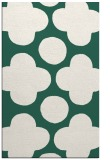 rug #497261 |  blue-green circles rug