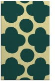 rug #497333 |  blue-green circles rug