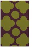 rug #497357 |  green circles rug