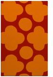 rug #497373 |  orange circles rug