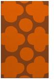rug #497393    red-orange circles rug