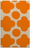 rug #497445 |  orange circles rug