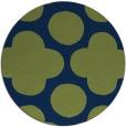 rug #497517   round blue circles rug