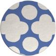 rug #497521 | round blue circles rug