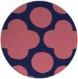 rug #497573 | round pink circles rug