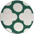 rug #497613 | round green graphic rug