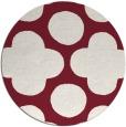 rug #497693 | round pink circles rug