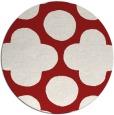 rug #497729 | round red circles rug