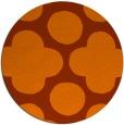 rug #497737 | round red-orange circles rug