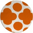 rug #497749 | round red-orange circles rug