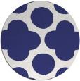 rug #497761 | round blue circles rug