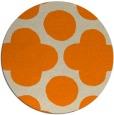 rug #497797 | round orange graphic rug