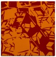 rug #500133 | square red-orange abstract rug
