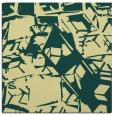rug #500149 | square yellow abstract rug