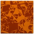 rug #500201 | square red-orange abstract rug