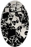 rug #500301 | oval white abstract rug
