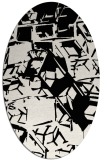 rug #500302 | oval abstract rug
