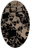rug #500309 | oval abstract rug